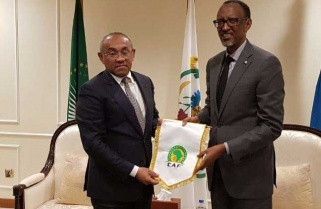 President Kagame Meets with CAF Boss Ahmad