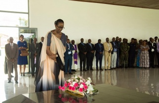 First Lady Jeannette Kagame Pays Tribute to the last Queen of Rwanda Gicanda