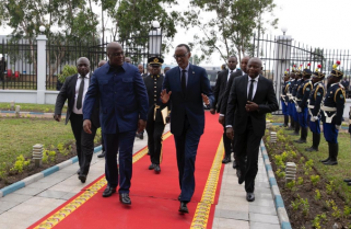 Kagame in DR Congo for Bilateral Talks with President Tshisekedi