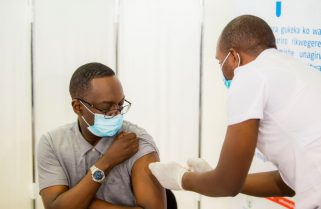 COVID-19: Rwanda's Health Minister Takes First Jab As He Launches Nationwide Vaccination