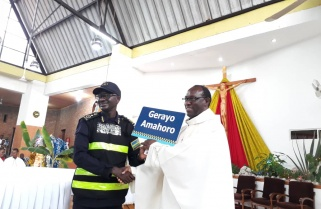 Rwanda Police Take Up the Altar to Preach Road Safety Gospel