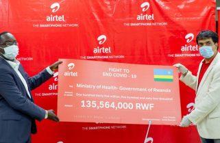 Airtel Rwanda Donates Rwf135M for Covid-19 Frontline Workers