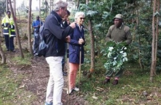Christine Lagarde Hikes to Meet Rwanda Gorillas in the Mist