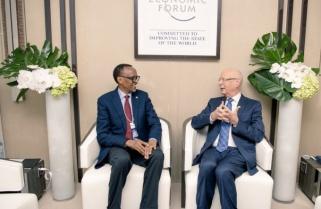 Kagame Meets World Economic Forum Founder