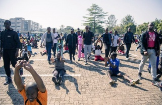 President Kagame Participates in Car Free Day