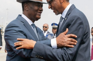 Kagame, First Lady in Côte d'Ivoire for State Visit