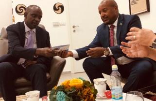 Min Sezibera Visits Rwanda's Embassy in Israel