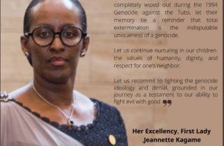 Kwibuka 26: First Lady Mrs Kagame Pays Tribute to Wiped Out Families