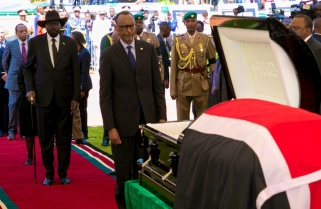 Kagame Attends Funeral Service of Former Kenyan President Moi