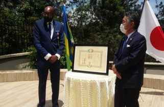Emperor Of Japan Awards Uwayo the 'Order Of Rising Sun Gold And Silver' Medal