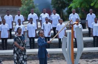 President Kagame Lights the Flame of Hope As Rwanda Begins Kwibuka24