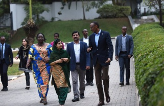 Malala Meets President Kagame