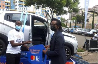 Bank of Kigali: A Lucky Winner Gets a Brand New Mahindra KUV 100 NXT
