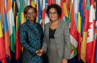 Mushikiwabo Assumes Office As OIF Secretary General