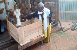 Kagame Sends Third Cow to His Granny from the South