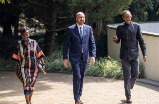 Charles Michel, Louise Mushikiwabo Meet President Kagame