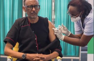 President Kagame, First Lady Get COVID-19 Jab