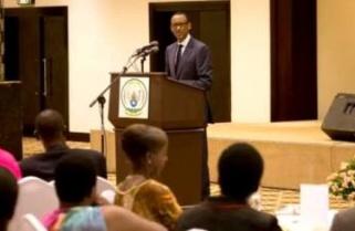 Kagame Says Violence against Women isn't Rwandan