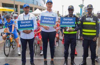 Rwanda Police Takes Road Safety Campaign Across Tour du Rwanda Routes