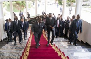 Gabon President Ondimba in Rwanda