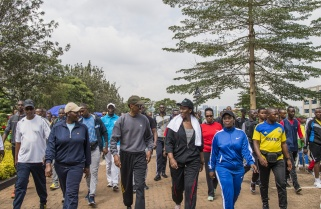 Kagame Glad Rwandans are Embracing Fitness Exercises
