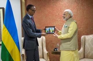 Indian PM 'Walks' 200 Cattle to Rwanda
