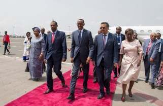 Kagame in Addis Ababa for AU Reforms Progress