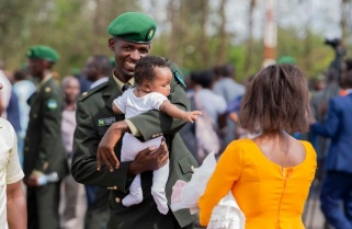 Celebrations, Pomp As 320 Officer Cadets Pass Out, Reunite with Families