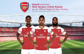 Arsenal FC Signs Deal with SKOL Brewery Ltd Rwanda