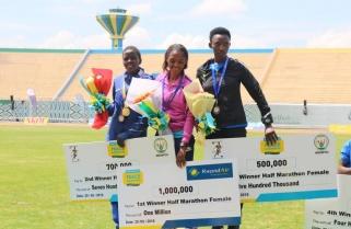 Nyirarukundo, Hitimana win Kigali Half Marathon Race