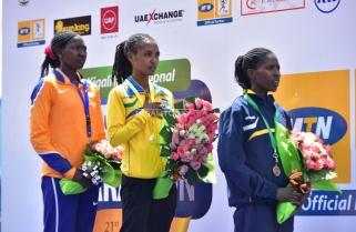 Nyirarukundo, Hitimana Win Kigali Run Blue Half Marathon