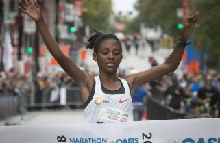 Nyirarukundo Sets Record Time in Montreal Marathon