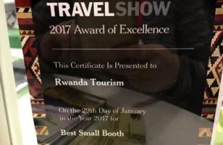 New York Times Travel Show Awards Rwanda Toursim Certificate of Excellence