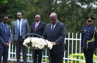 DRC's Etienne Tshisekedi Pays Tribute to Victims of Genocide against Tutsi