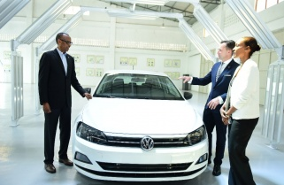 Kagame Launches Volkswagen's First Car Assembly Plant in Rwanda