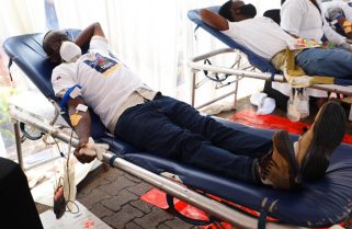 325 Donate Blood in City Blood Donation Drive