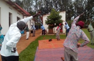 Elderly Genocide Survivors Using Yoga to Combat Covid-19 Stress