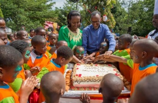 President Kagame Hosts Children at Christmas Party