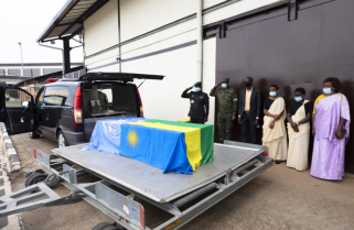 Body of Fallen Rwandan Peacekeeper Arrives Home