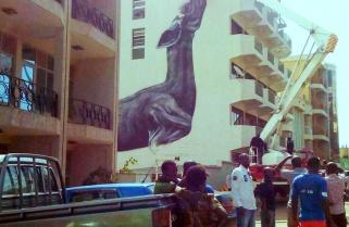 Okapi Painting Keeps Kigalians Guessing