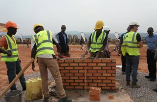 Kagame Lays Foundation Stone to Flag off Bugesera Airport Construction