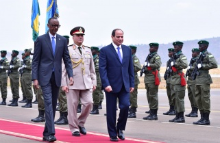 Egypt President Fatah al-Sisi in Rwanda For Bilateral Talks
