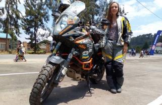 Four Years Touring the World on Motorbike, Ukrainian Woman Now in Rwanda